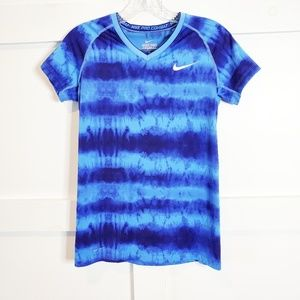 Nike Pro Combat | Tie Dye Fitted Dri Fit Vneck Top